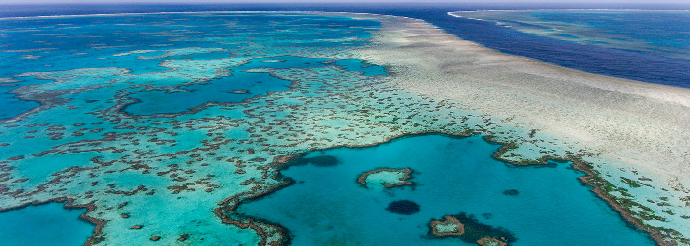 Aerial view of the Heart Reef, Great Barrier Reef © WWF-Aus / Christian Miller