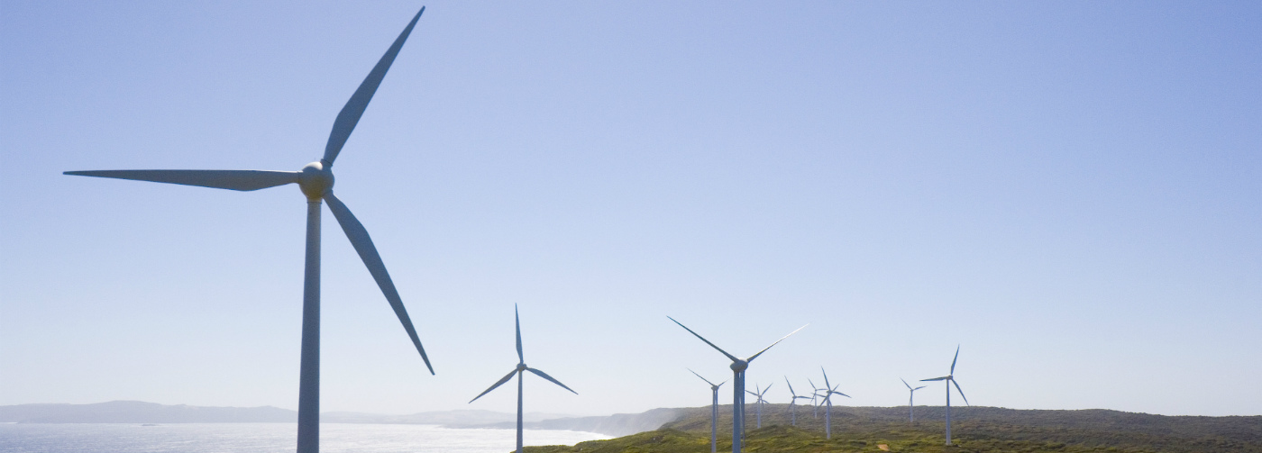 A view of a wind farm in Albany, Western Australia © Lawrence Murray / WWF-Aus