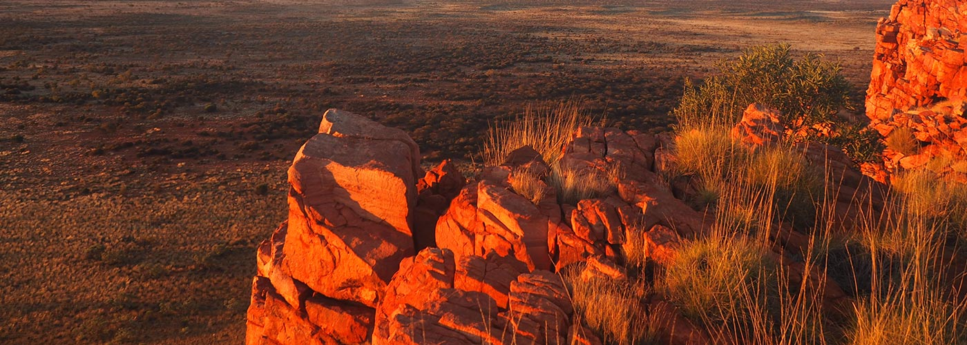 Central Ranges landscape at sunset, Western Australia © WWF-Aus / Merril Halley