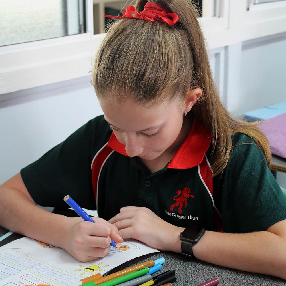 School kid, Brisbane. Courtesy of MacGregor State High School