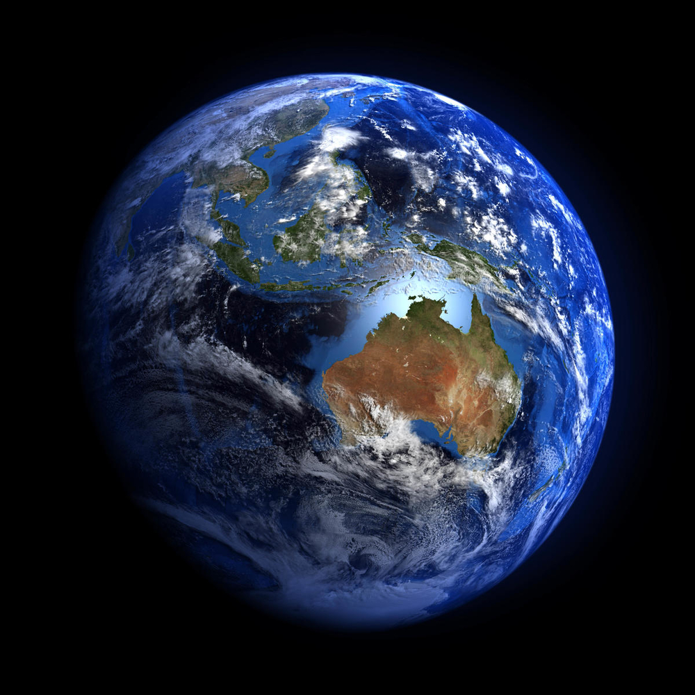 The Earth from space showing Australia and Indonesia. © Shutterstock / MarcelClemens / WWF