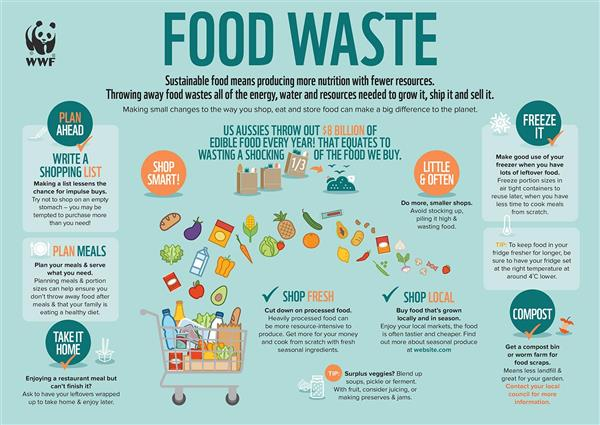 Food Waste Infographic © WWF-Australia