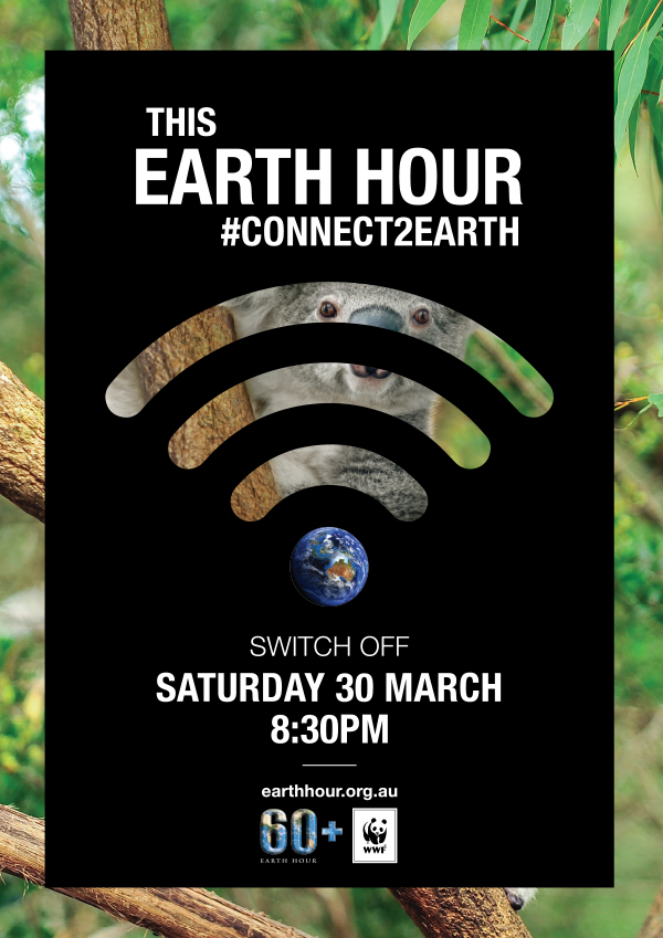Connect2Earth Koala poster. Background images © Shutterstock / GunnerL / WWF