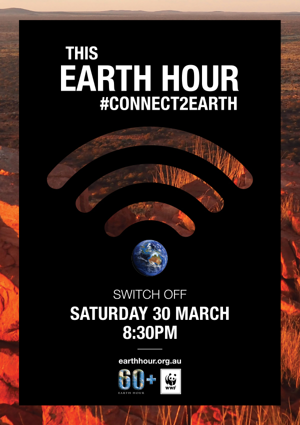 Connect2Earth Kimberley poster. Background image © WWF-Aus / Merril Halley